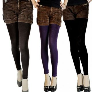 Women High Grade Fleece Lined Thermal Tights Underwear All Size Colour