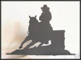 BARREL RACING Western Horse Metal Art Silhouettes
