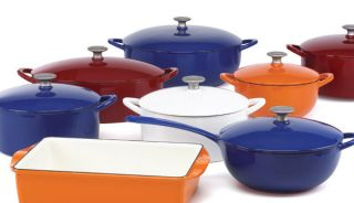 Mario Batali by Dansk Classic Enameled Cast Iron 4PC cookware set