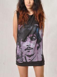 Syd Barrett Stencil Street Art Pink Floyd Women Oversize Sleeveless