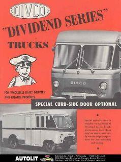 1957 Divco Dividend Milk Truck Brochure