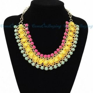 yellow bead necklace in Necklaces & Pendants