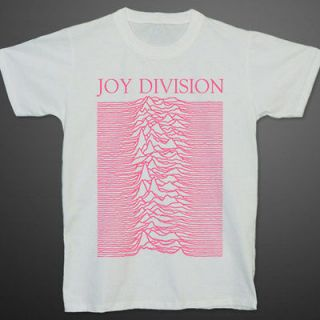 JOY DIVISION UNKNOWN PLEASURES Pink Fluorescent Ian Curtis T shirt XL