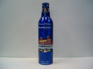 ST. LOUIS CARDINALS 2006 WORLD SERIES CHAMPIONS ALUMINUM BEER BOTTLE