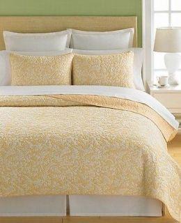 Martha Stewart Aspendale Butter Full/Queen Quilt Butter (Yellow/White)
