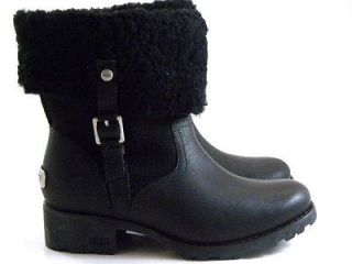 New UGG Australia Bellvue Black High Tall Winter Boots Womens/Lady