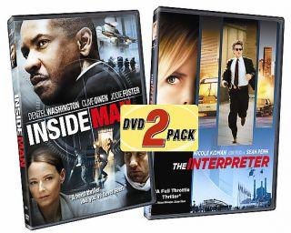 Inside Man The Interpreter DVD, 2006, 2 Disc Set, Belly Band