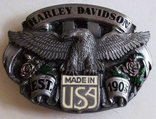 Harley Davidson Ladies belt buckle Eagle 1989 siskiyou buckle made USA