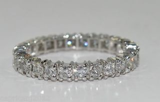 VINTAGE 1.50 CT T.W DIAMONDS ETERNITY BAND IN 18 KT WHITE GOLD