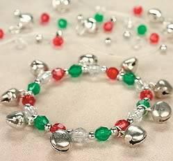 Christmas Jingle Bell Charm Beaded Bracelet Kit