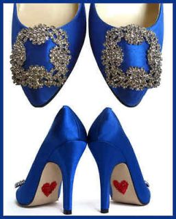 Bella Belle SOMETHING BLUE COBALT CARRIE CRYSTAL WEDDING BRIDAL PUMPS