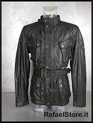 BELSTAFF Mens Jacket Leather L IT 713162 Centaur Jkt Man Antique