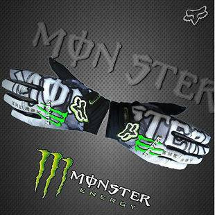 Cycling Bike Monster Bicycle Sports Full Finger Gloves white XL