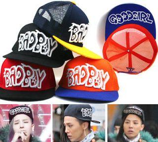 Boy Good Girl Mesh Back Baseball Cap Trucker Hat Summer Kpop Big Bang