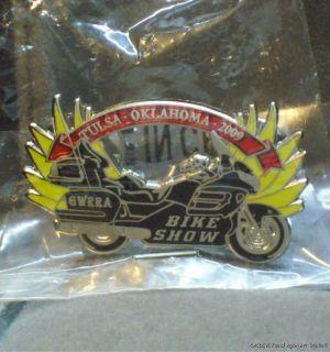 Honda Enamel Pin Bike Show Gold Wing Motorcycle Tulsa OK Rally MIP