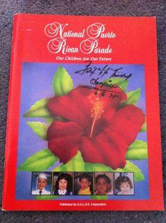 Felix Trinidad Autographed Puerto Rican Parade Magazine June 1997