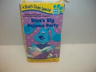 Clues   BLUES BIG PAJAMA PARTY   VHS blue dog Cartoon video tape