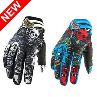 Cycling Bike SKULL Monster Bicycle Sports Full Finger Gloves