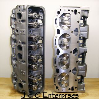 327 350 400 CHEVY CYLINDER HEADS 187 SBC .550 SPRINGS BRONZE GUIDES