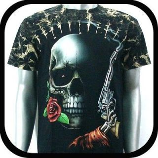 Survivor T Shirt Biker Motorcycle Rock Tattoo S4 Sz L Heavy Metal