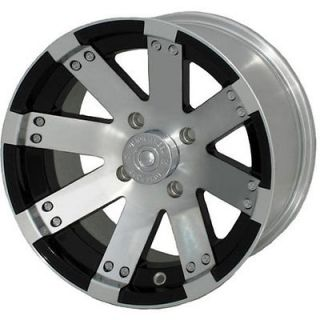 12x7 Machined Black Wheel Vision Buck Shot (158 ATV) 4x156