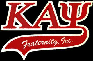Kappa Alpha Psi 3 Letter Tail Tackle Twill Iron On Patch