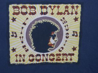 Bob Dylan in Concert Live Music Blue T Shirt 2XL XXL Reign & Shine