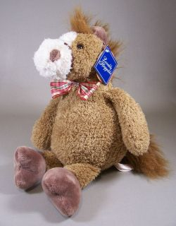 Dan Dee Brown Horse Pony with Bow Tie Plush Lovable Huggable Stuffed