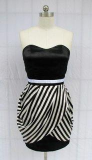 black white striped dress in Dresses