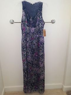 NWT BLACK RAINN MAXI DRESS FROM FRANCESCAS COLLECTIONS SIZE LARGE