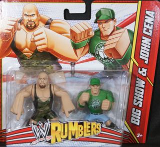 BIG SHOW & JOHN CENA   WWE RUMBLERS TOY WRESTLING ACTION FIGURES 2
