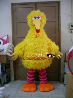 Sesame Street Big yellow bird Mascot Costume Adult outfit Fancy