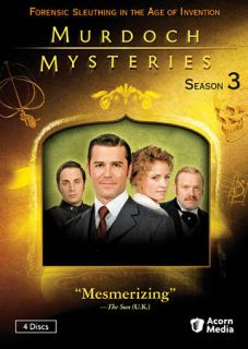 Murdoch Mysteries Season Three DVD, 2011, 4 Disc Set