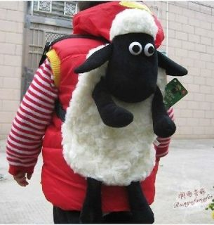 The Little Cute Sheep Shaun Plush Backpack Shoulder Bag