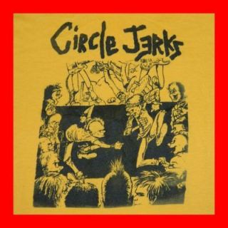 VTG CIRCLE JERKS T SHIRT 80s HAND PRINTED LTD RUN BLACK FLAG DEAD