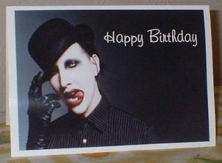 Marilyn Manson Personalised Birthday Greeting Card M38