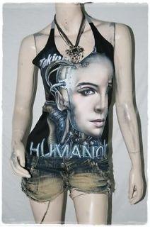 Tokio Hotel Glam Rock DIY Sexy Halter Tank Top Shirt