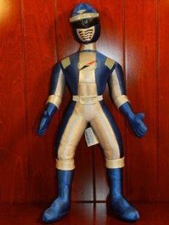 Blue Power Rangers Plush Figure Doll Toy Disney Store Operation