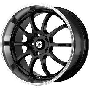 New 15X7 4x100 KONIG Lightning Black Wheels/Rims