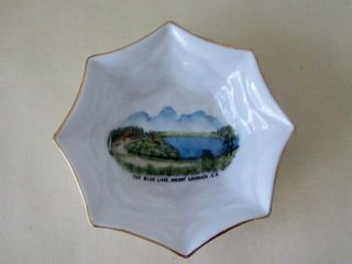 STANDARD Fine bone China pin dish Blue Lake Mt Gambier South Australia