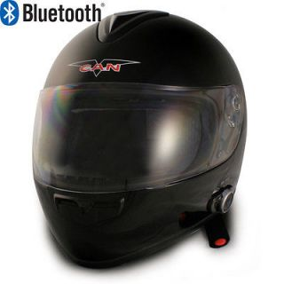 V136 GLOSSY BLACK FULL FACE BLUETOOTH MOTORCYCLE HELMET 2 SPEAKERS DOT