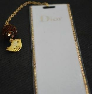 Beautiful DIOR bookmark cristal swarovski leopard pattern   new