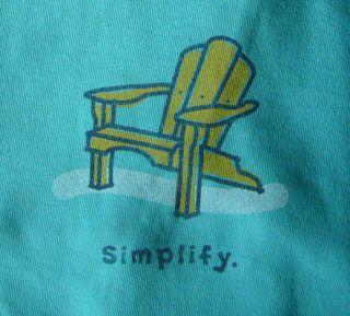 Life is good Womens Crusher tee   Adirondack Simplify   aqua blue