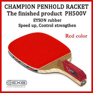 Champion PH500V Table Tennis Racket Penhold Paddle Ping Pong Red Color