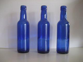 cobalt blue 187 ml wine bottles 24 per case bottle