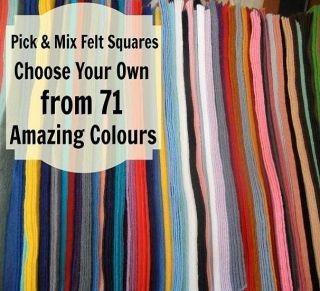 Choose Any 5 x 12 inch 30cm Wool Blend Felt Squares