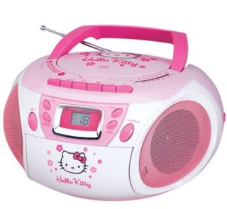 Brand New Hello Kitty Stereo CD Boombox With Cassette Player & AM/FM