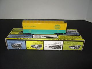 AHM 5298G HO Scale 40 Double Door Boxcar Wood Sheathed RUTLAND RTR