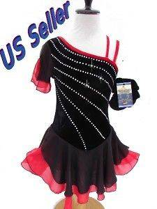 Figure ice Skating Dance Baton Costume Dress Child XL