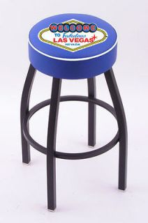 Welcome to Las Vegas L8B1 Black Single Ring Swivel Bar Stool w/ 4